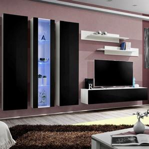 Meuble TV suspendu noir et blanc ORLANDO