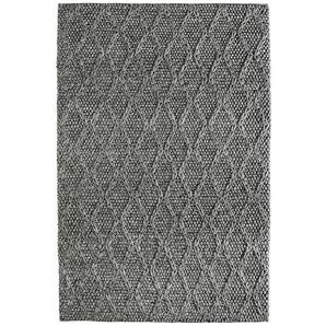 Tapis mélange laine et viscose fait main Geon Graphite 160x230 - Graphite - DELADECO