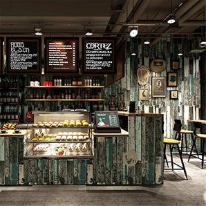 JOYIELD Murale Fond DÉcran Papier Peint IntisséPapier Peint 3D Grain Nostalgique Imitation Planche De Bois Grain De Papier Peint Bar Café Restaurant Murs De Fond De Vent Industriel