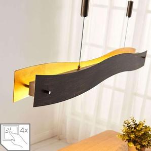 Suspension LED dimmable Ebu, noir-doré