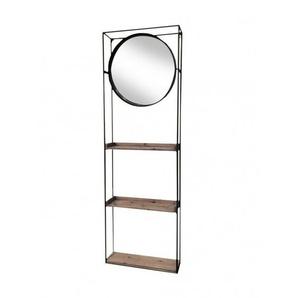 Miroir mural et meuble de rangement Shelton - Boite à design