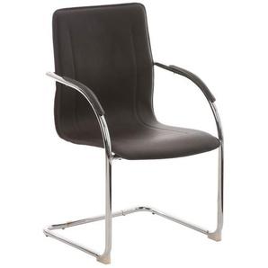 Chaise visiteur Melina V2 marron - CLP