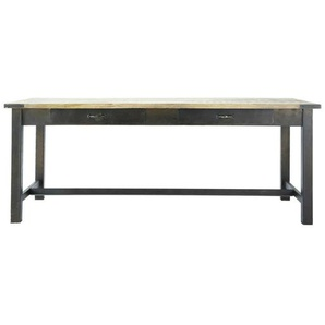 Table à manger en manguier et métal 8/10 personnes L200 Alfred