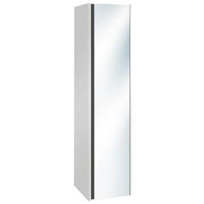 Villeroy & Boch Vivia Armoire colonne haute 165x40x40cm avec 1 porte miroir 2 côtés droite blanc brillant B05001DH