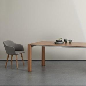 Bramante, table à rallonges, frêne