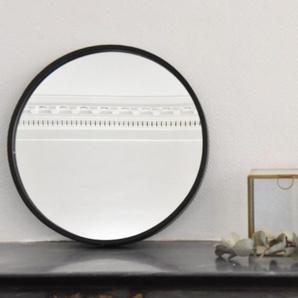 Miroir rond en métal noir mat 40 cm Soho Arne Lykke