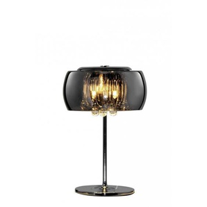 Lampe de table Vapore en verre chromé