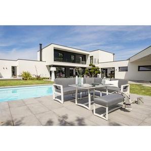 Salon de jardin BELIZE en aluminium - BLANC - DCB GARDEN