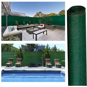 Brise vue haute densité 1,2x10m 300 gr/m² vert qualité pro - IDMARKET