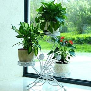 IU Desert Rose Meubles de Salon Modernes Mode créatif Fer Fleur Stand Balcon Salon Plante Fleur présentoir intérieur (3 Niveaux) (Couleur: Blanc) (Couleur : White)