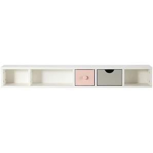 Module de rangement pour bureau 2 tiroirs rose et gris Blush