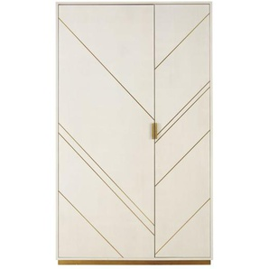 Dressing 2 portes imitation galuchat blanc cassé Waldorf