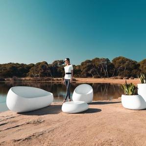 Vondom Chaise Stone Lounge - verni - gris acier