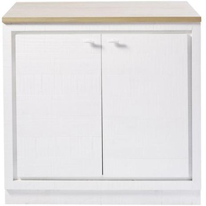 Meuble bas de cuisine 2 portes blanc Embrun