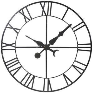 Déco horloge factice en métal noir D130