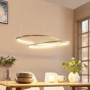 Mirasu - suspension LED gracieuse, nickel