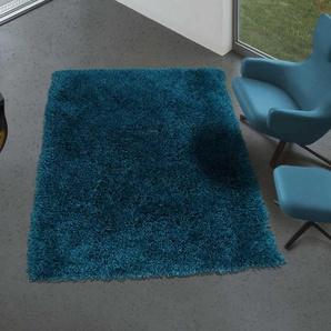 UN AMOUR DE TAPIS SHAGGY LUXE 160x230 cm Tapis Moderne Tapis Salon Tapis Rectangulaire Tapis Bleu - UNAMOURDETAPIS