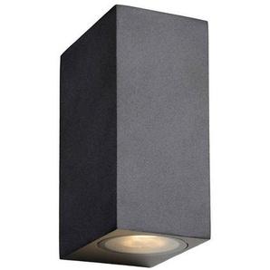 ZORA-Applique LED dextérieur 2 Lumières Métal H15cm Noir Lucide - designé par Lucide