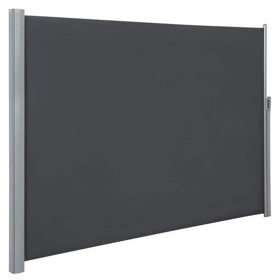 Songmics - 180 x 400 cm (H x L), Store latéral pour Balcon et terrasse, Pare-Soleil, Brise-Vue Protection Vie privée, Gris GSA184G
