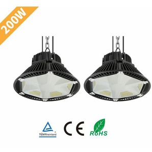 2×Anten 200W Projecteur LED Anti-Éblouissement Phare de Travail de Super Luminosité 26000LM Spot High-Bay Lampe LED Étanche IP65 Éclairage Intérieur et Extérieur Blanc Neutre 4000K (Connecteur de câble étanche Fourni)