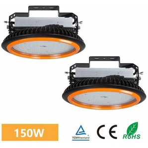 2×Anten UFO Projecteur LED 150W Industriel Phare de Travail de Super Luminosité 22000LM Spot High Bay Étanche IP65 Lampe Extérieur de Haute Qualité Certification de CE TÜV (Blanc Froid)