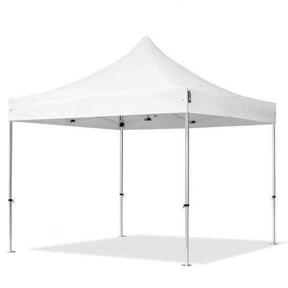 3x3 m Tente pliante - Alu, PVC 620g/m², anti-feu, blanc