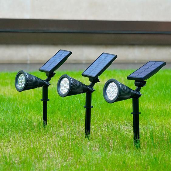 4 pcs solaire 7 LED Spotlight paysage lumière pour jardin extérieur chemin pelouse lumière-SHU