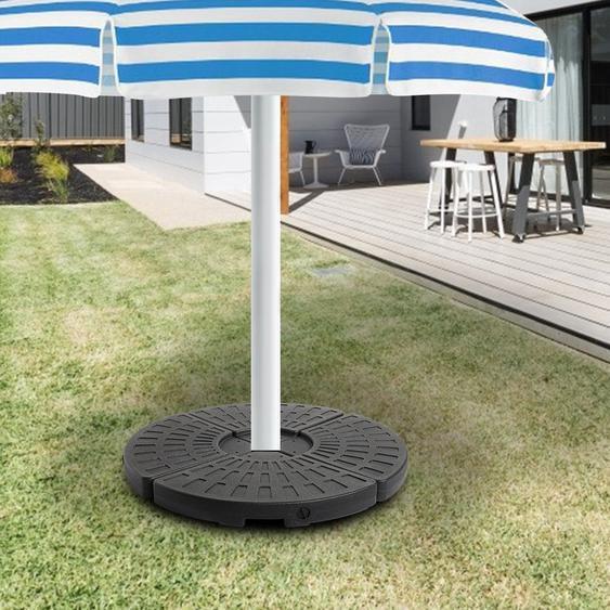 4 pièces forme de ventilateur bases de parapluie de plage parasol gravité Base sac abri soleil tente de camping sacs de sable