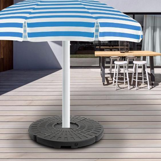 4 pièces forme de ventilateur bases parapluie plage parasol gravité Base sac abri soleil tente