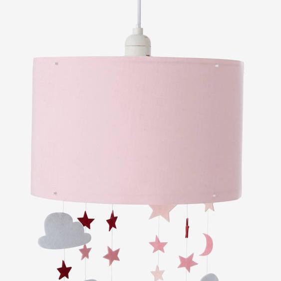 Abat-jour à suspendre étoiles et nuages Féérie rose