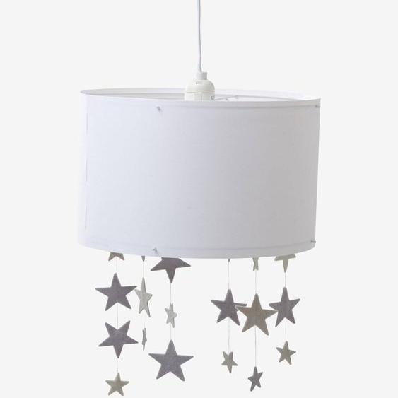 Abat-jour étoiles à suspendre Pluie détoiles blanc/gris