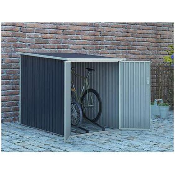 Abri à vélo NIKI en acier galvanisé gris - 2,81 m²