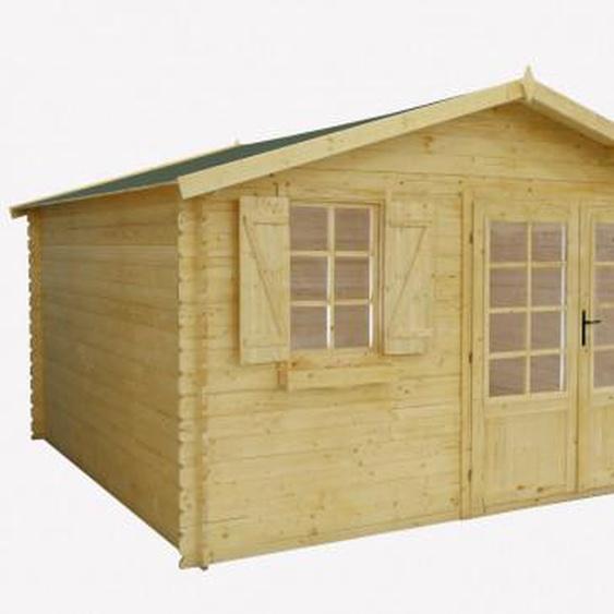 Abri de jardin chalet en bois EBANO - surface 16m² - épaisseur 28mm