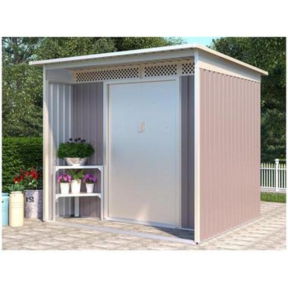 Abri de jardin en acier galvanisé gris COLMAR - 5,5m²