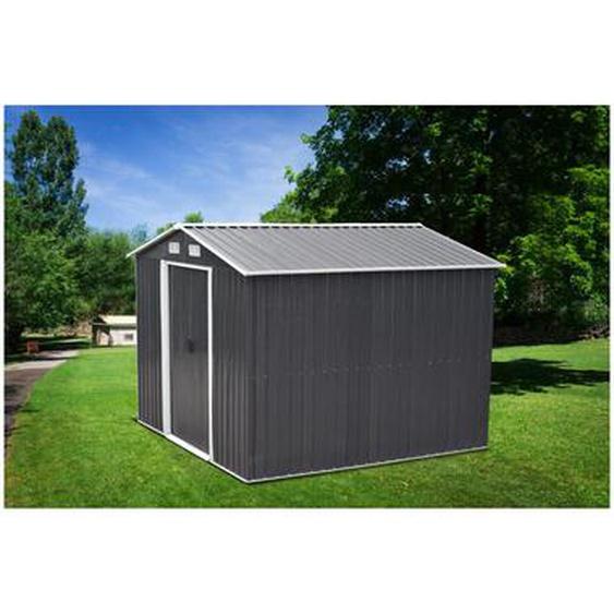 Abri de jardin en acier galvanisé gris MANSO - 6,6 m²