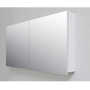 Adema Bella Armoire de toilette 117x60x14cm à 2 portes avec miroir intérieur Gris SWGA117SPK