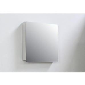 Adema Bella Armoire de toilette 57x60x14cm à 1 porte avec miroir intérieur Gris SWGA57SPK