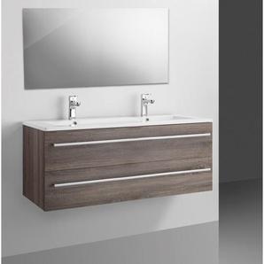 Adema Bella Set meuble de salle de bains 99.6x47.5x50.5cm avec trop plein et miroir bois