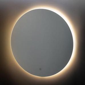 Adema Circle miroir salle de bain rond diamètre 80cm avec éclairage LED indirect, chauffe miroir et interrupteur touch JG1112-800
