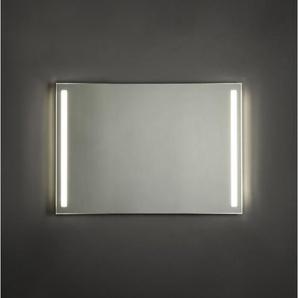 Adema Squared Miroir salle de bain 100x70cm avec éclairage LED gauche et droite et interrupteur capteur NAA002-N45A-100