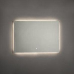 Adema Squared miroir salle de bain 100x70cm avec éclairage LED indirect et interrupteur capteur JG2112-1070