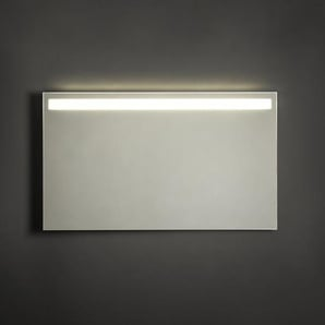 Adema Squared Miroir salle de bain 120x70cm avec éclairage LED en haut avec chauffage et interrupteur capteur NAA002-N45B-120