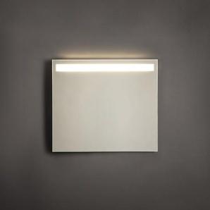 Adema Squared Miroir salle de bain 80x70cm avec éclairage LED en haut avec chauffage et interrupteur capteur NAA002-N45B-80