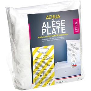 Alèse plate 150x200 cm ACHUA Molleton 100% coton 400 g/m2 matelas 15cm à 23cm