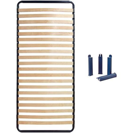 ALTOLATTES - Pack Sommier 20 Lattes 70x200cm + Pieds bleus