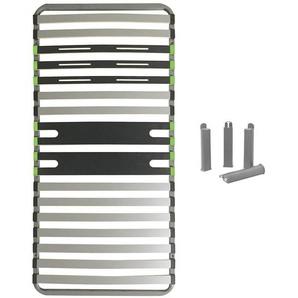 AltoZone - Pack Sommier 16 Lattes 90x190cm + Pieds Gris