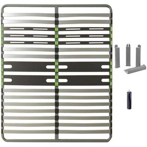 AltoZone - Pack Sommier 2x16 Lattes 140x200cm + Pieds Gris + Pied Central