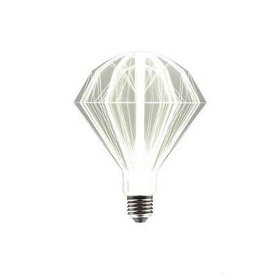 Ampoule LED plexiglass transparent E27 blanc chaud NOA STAR H21cm