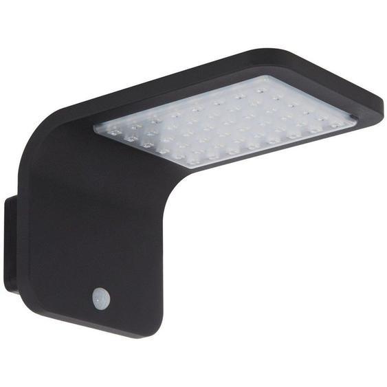 Applique LED Solaire Brasil avec Détecteur de Présence PIR IP65 Blanc Neutre 3800K - 4200K Noir - Blanc Neutre 3800K - 4200K Noir - LEDKIA