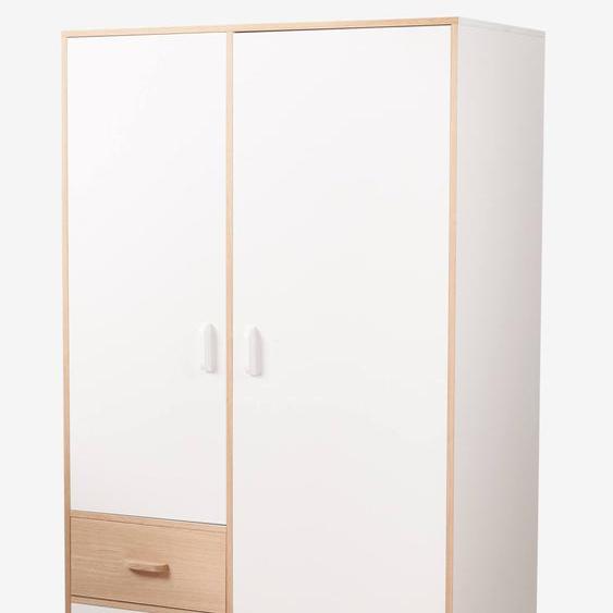 Armoire 2 portes + 2 tiroirs LIGNE HOPLA blanc
